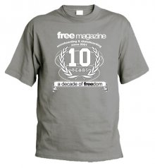 FREE MAGAZINE 10 years anniversary - A Decade of FREEdom - grey